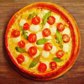 Cheesy Garlic Pizza
